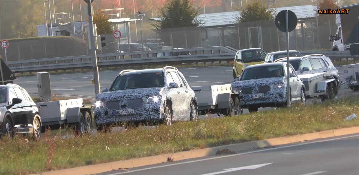 Mercedes GLB video spia