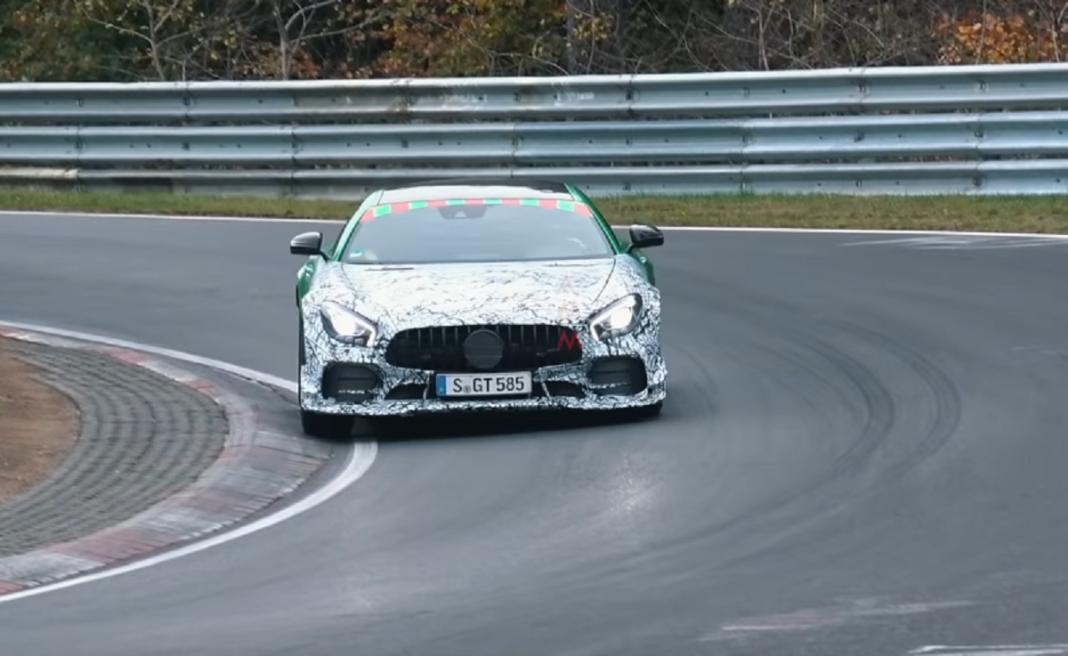 Mercedes GT R AMG Clubsport video spia