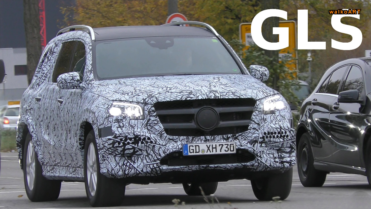 Nuove Mercedes CLA, GLC Coupé e GLS video spia