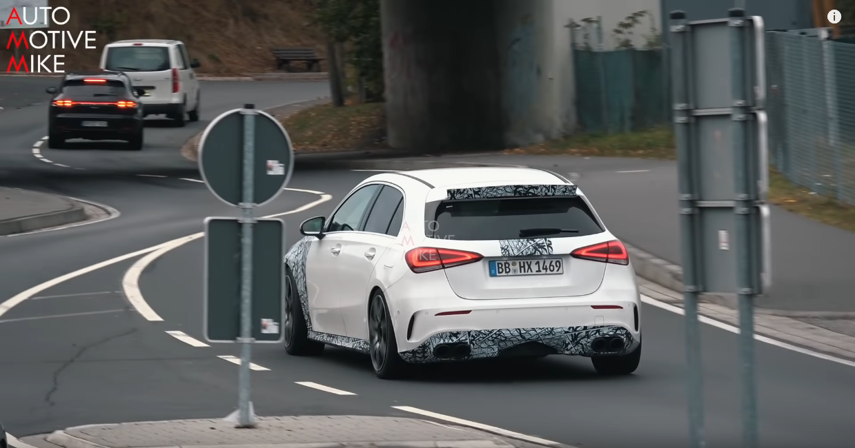 Mercedes A45 AMG video spia Nurburgring