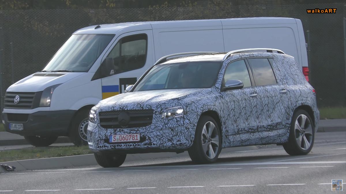 Mercedes Classe GLB video spia