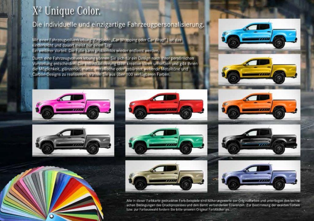 Mercedes Classe X Germania oltre 100 colorazioni