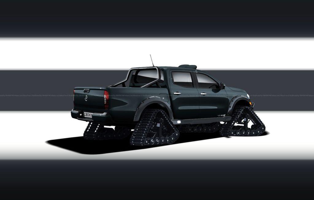 Mercedes Classe X cingolato render