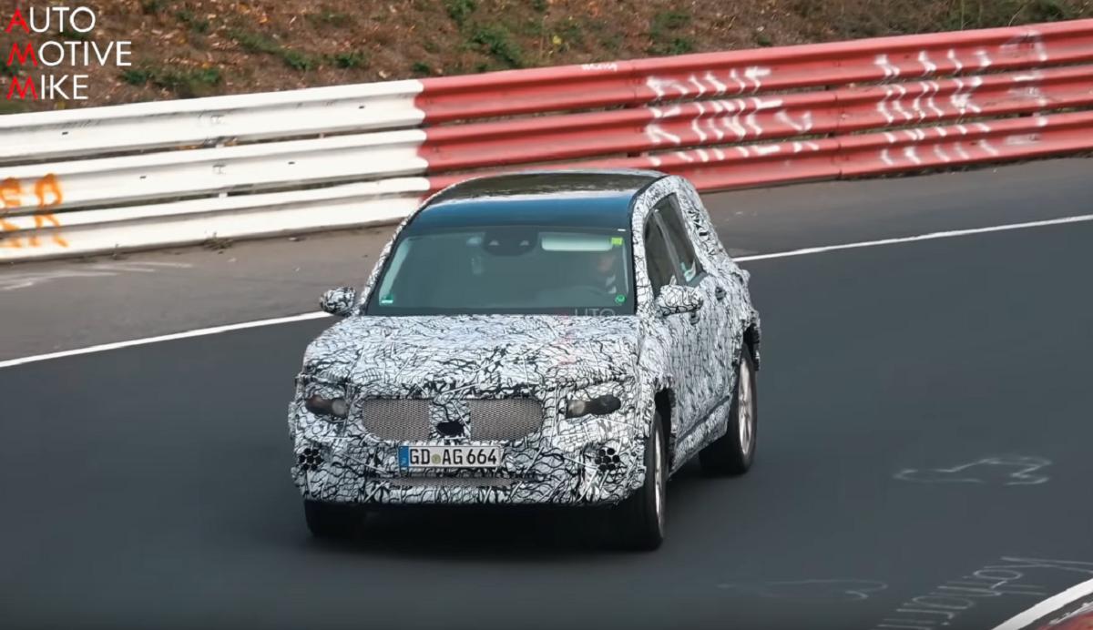 Mercedes GLB 2020 Nurburgring video spia