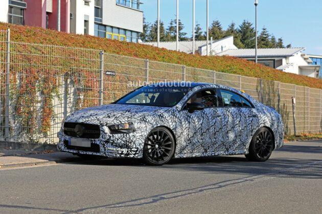 Mercedes CLA 35 e 45 AMG 2020 foto spia Ginevra
