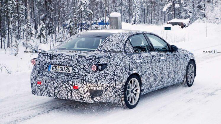 Mercedes Classe C prototipo Finlandia foto spia