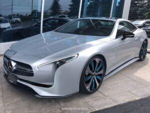 Mercedes EQSL AMG roadster elettrica render