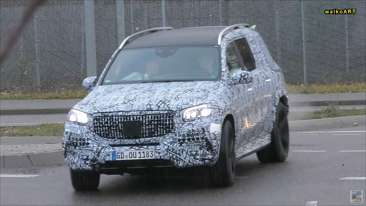 Mercedes GLS Maybach 2019 video spia
