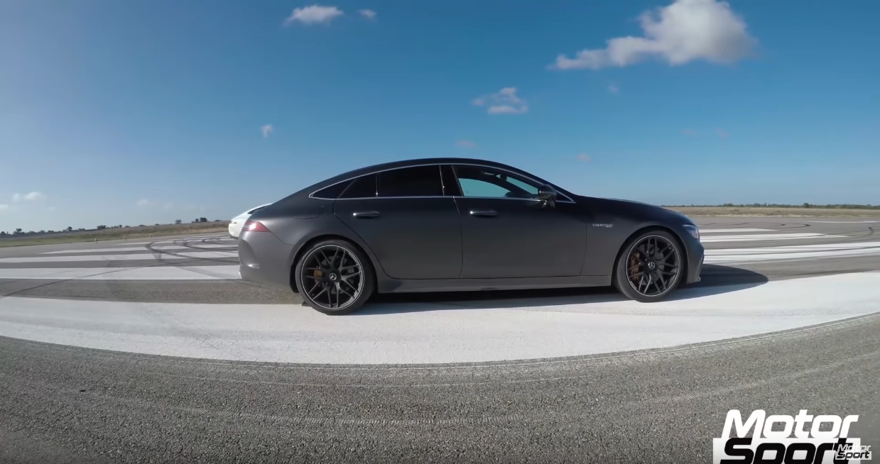 Mercedes GT 63 S AMG accelerazione video