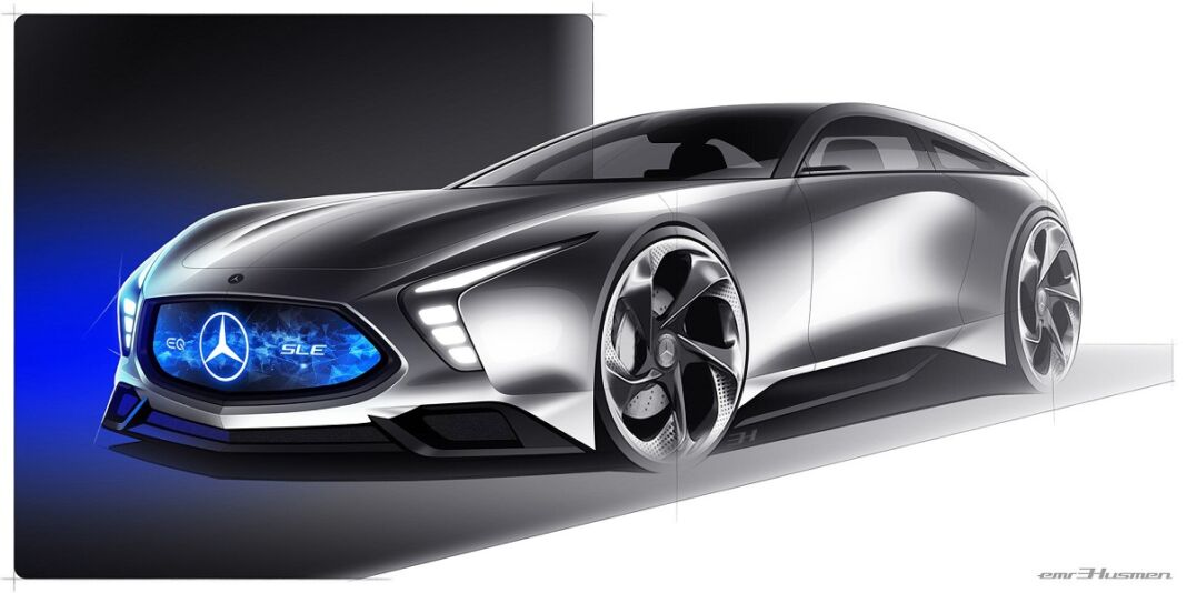 Mercedes SLE Shooting Brake concept render