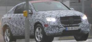 Nuovo Mercedes GLE Coupé rosso foto spia