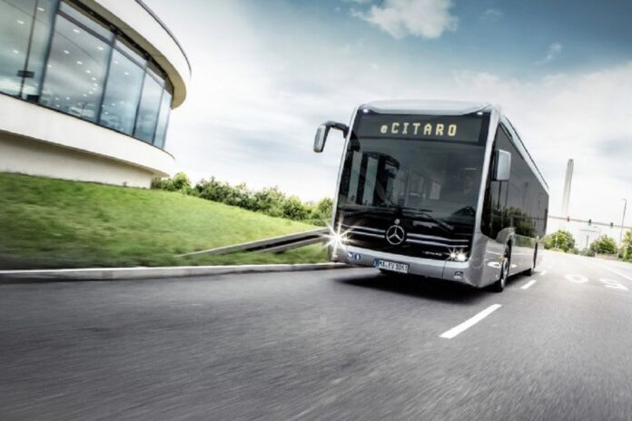 Mercedes eCitaro autobus full electric Mannheim e Heidelberg