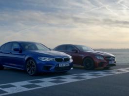 Mercedes E 63 S AMG vs BMW M5 Top Gear video