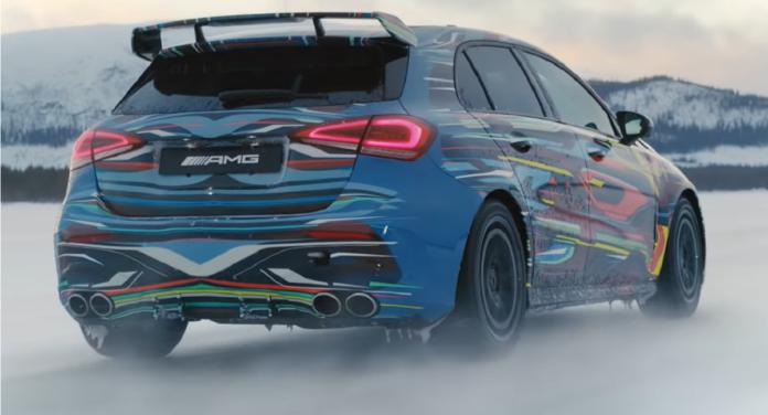 Mercedes A 45 AMG 2020 modalità Drift video