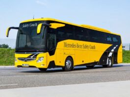 Mercedes Safety Coach Tourismo Daimler Buses fiera Bus2Bus