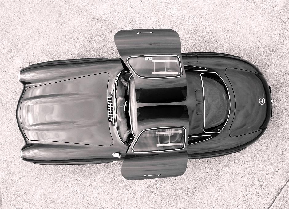Mercedes 300 SL Gullwing conversione SLK 320