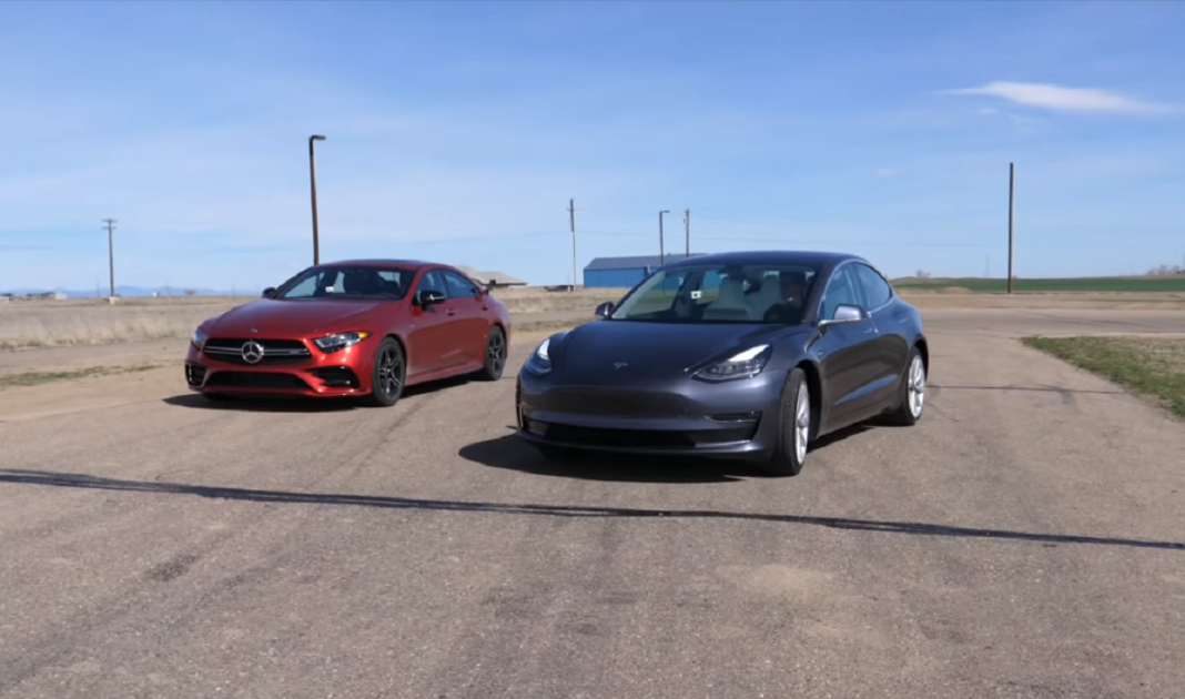 Mercedes CLS 53 AMG vs Tesla Model