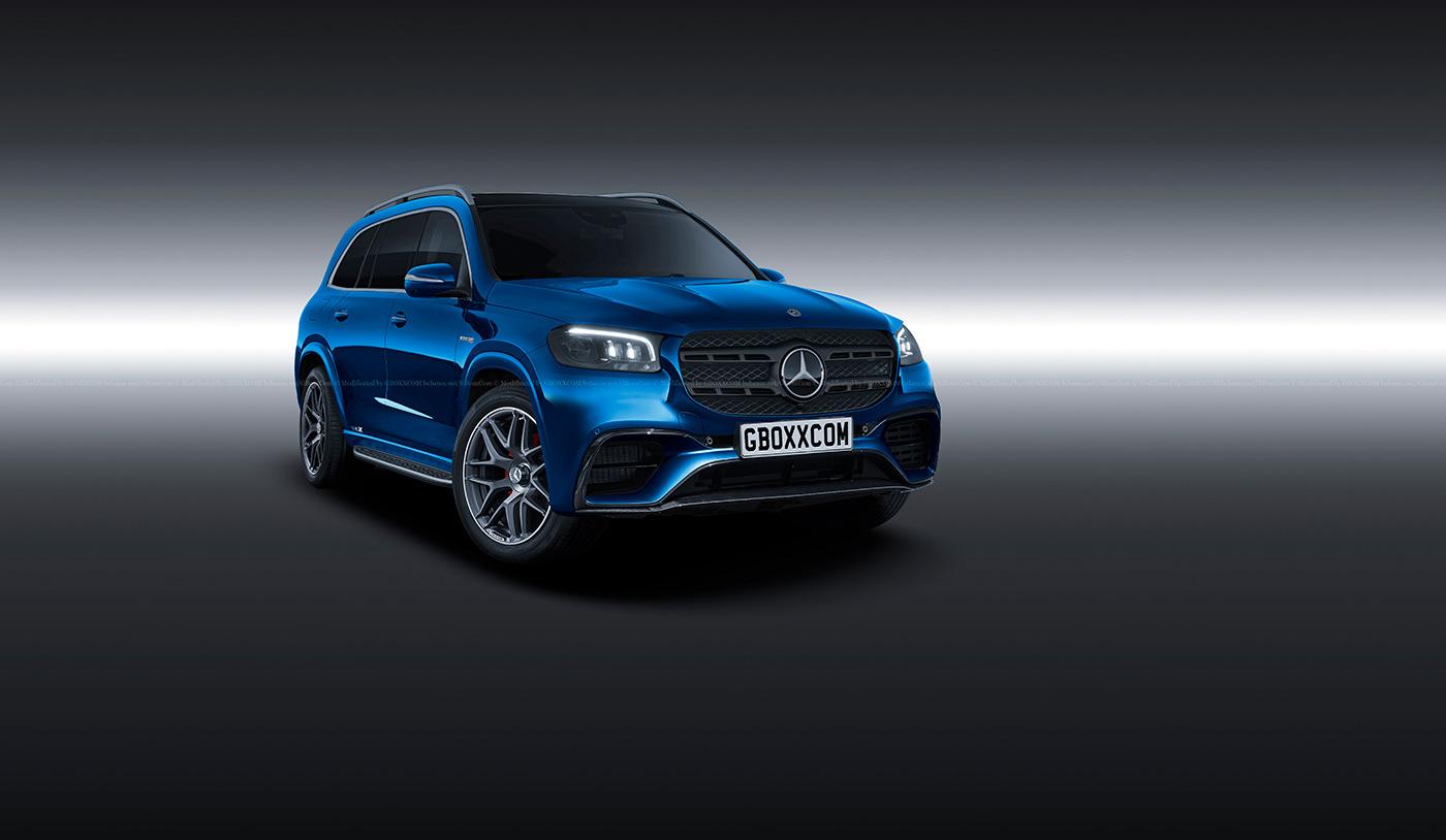 Mercedes GLS AMG render