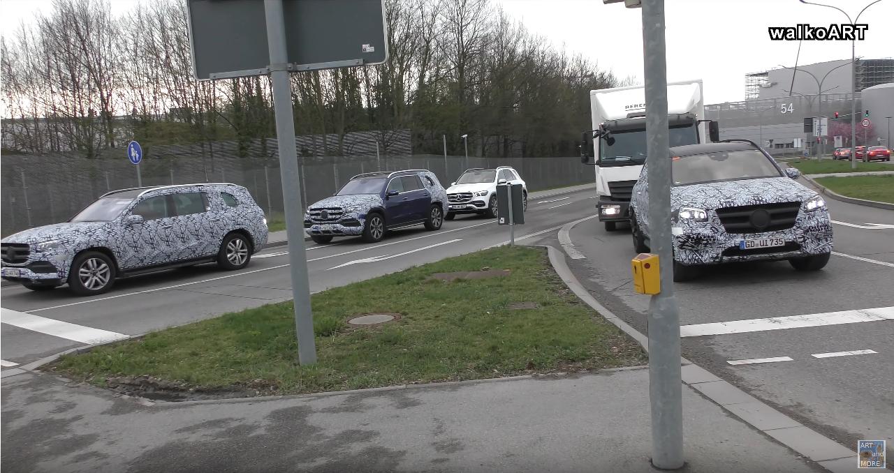 Mercedes GLS test finali foto spia