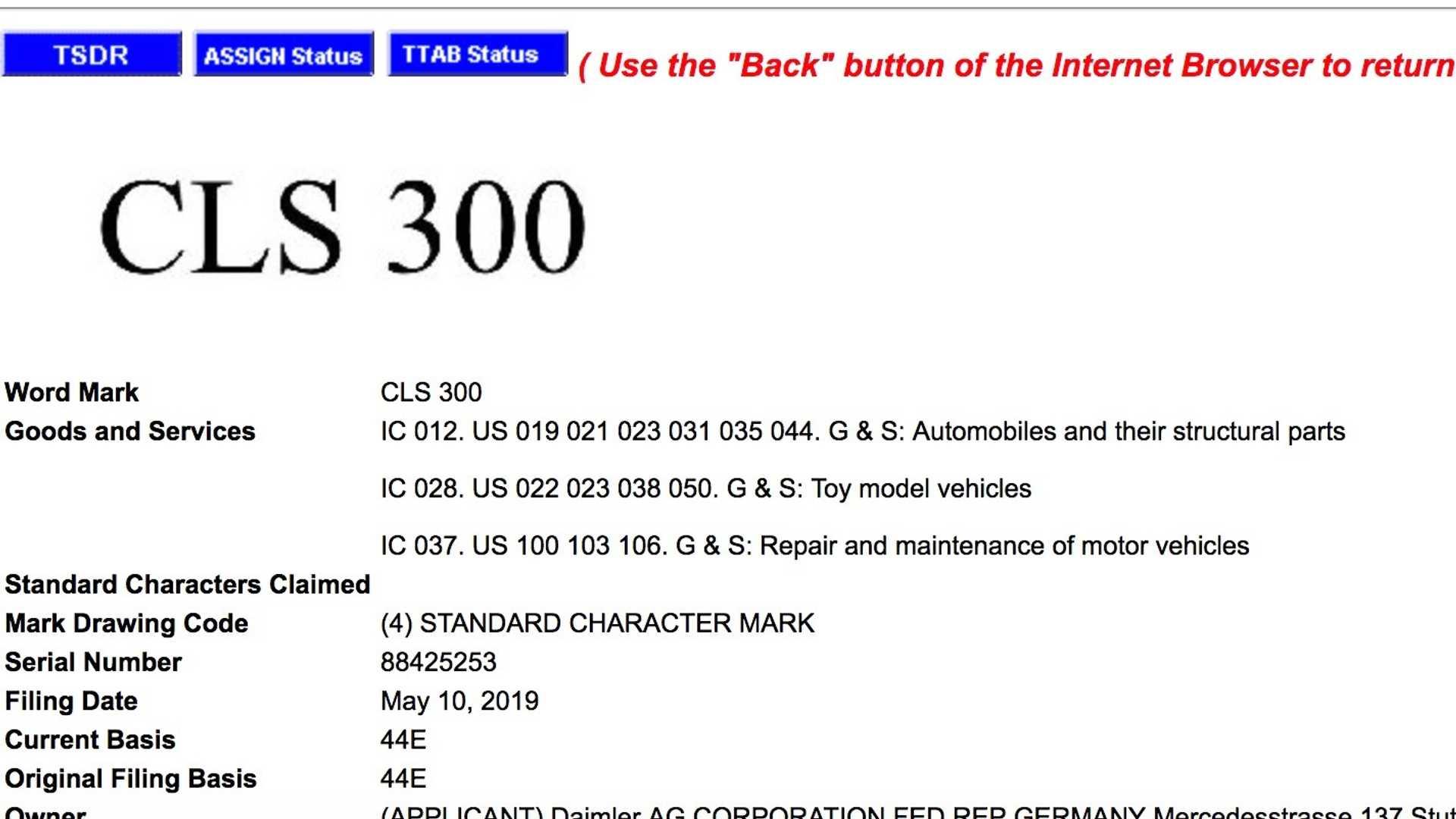 Mercedes CLS 300: Affalterbach deposita un marchio presso l'USPTO