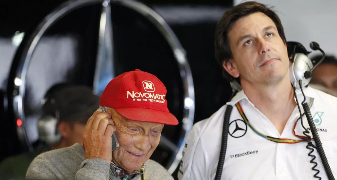 Niki Lauda e Toto Wolff