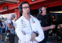 Toto Wolff nel paddock Mercedes