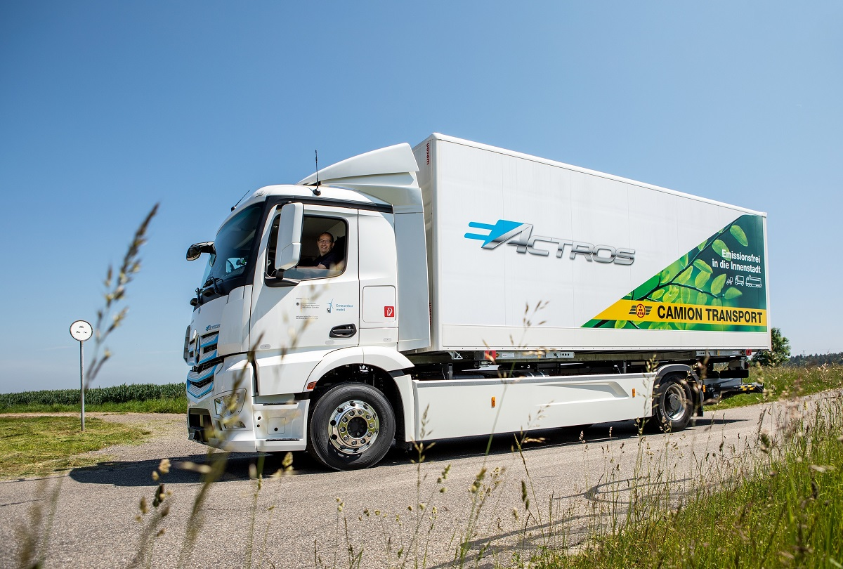 Mercedes eActros Camion Transport