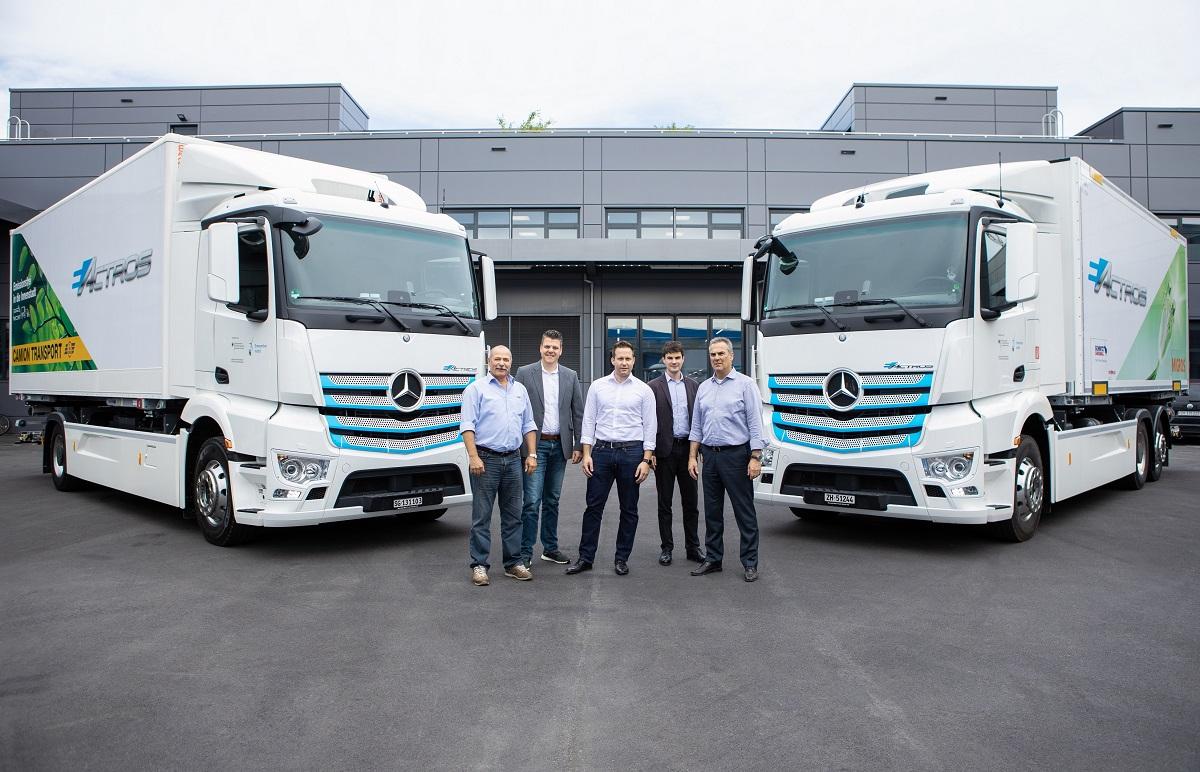 Mercedes eActros Camion Transport Migros