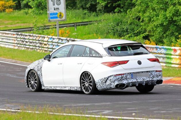 Nuova Mercedes-AMG CLA 35 Shooting Brake foto spia