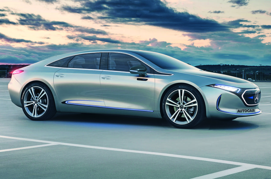 Nuova Mercedes EQE render