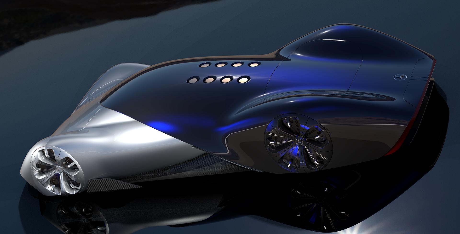 Mercedes Vision Mantilla Concept: una hypercar futuristica ed elegante