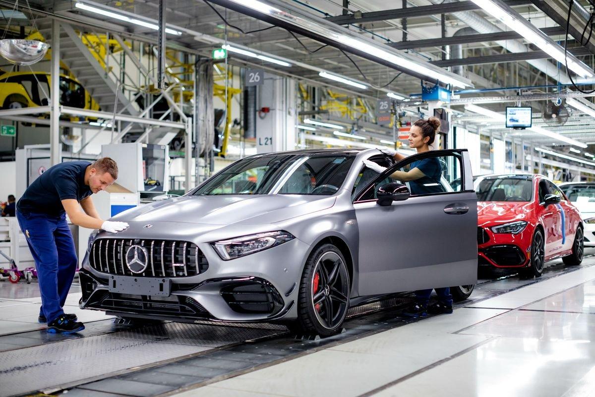 Mercedes-AMG A 45 produzione stabilimento Kecskemet