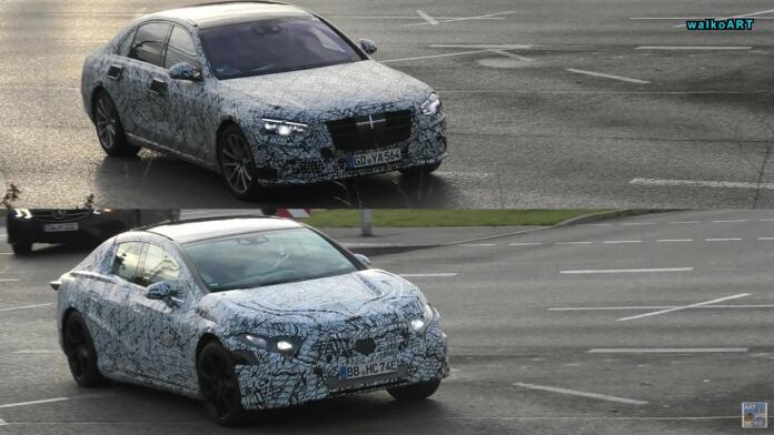 Mercedes Classe S 2021 ed EQS foto spia