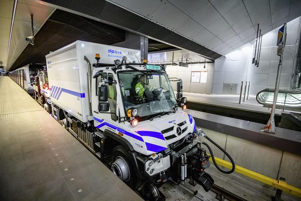 Mercedes Unimog camion ferroviari
