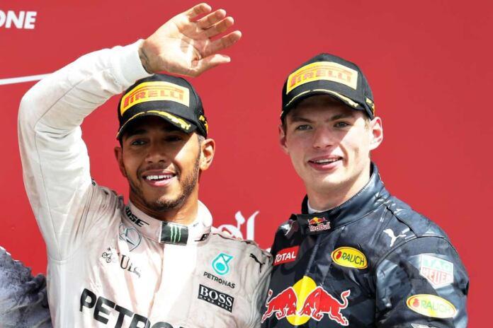 Hamilton e Verstappen