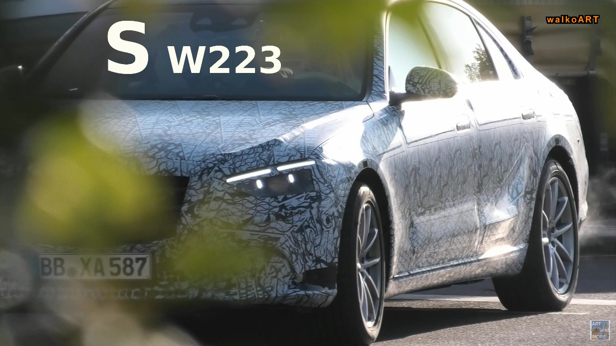 Mercedes Classe S 2021 maniglie foto spia