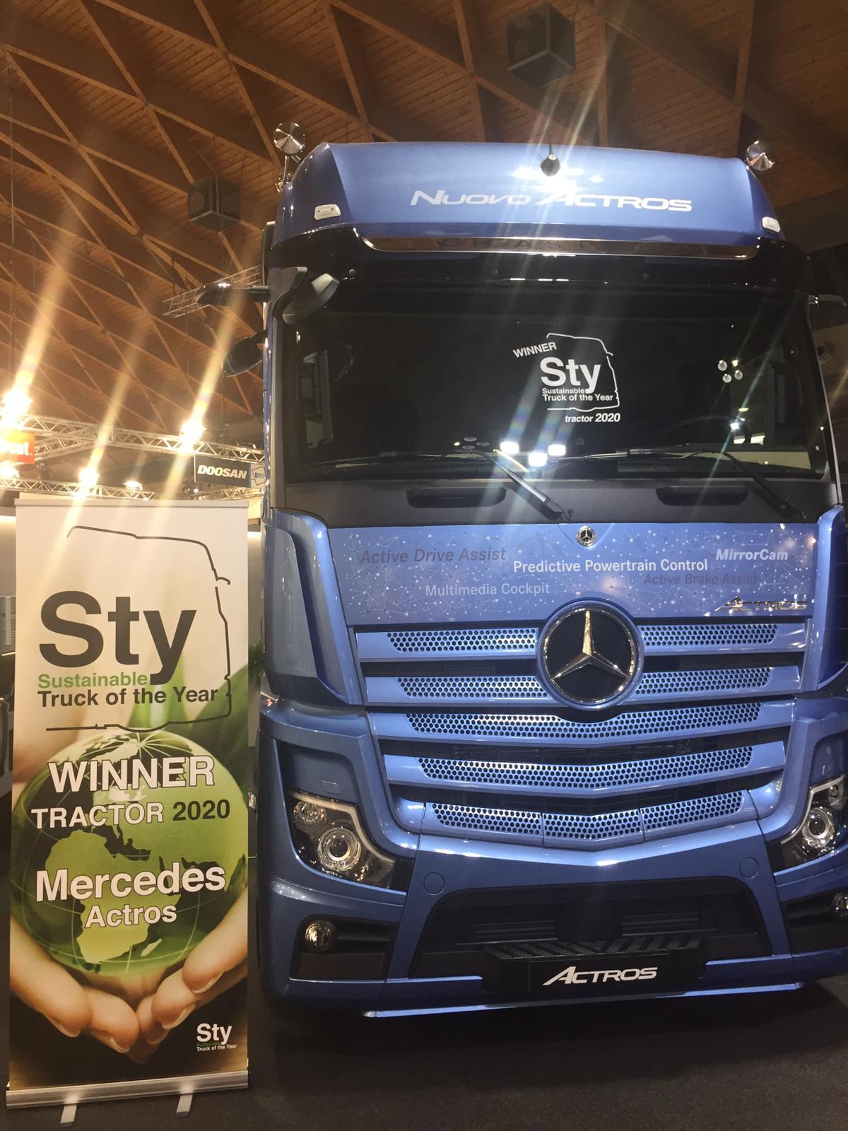 Nuovo Mercedes Actros conquista un importante premio al Sustainable Truck of the Year 2020