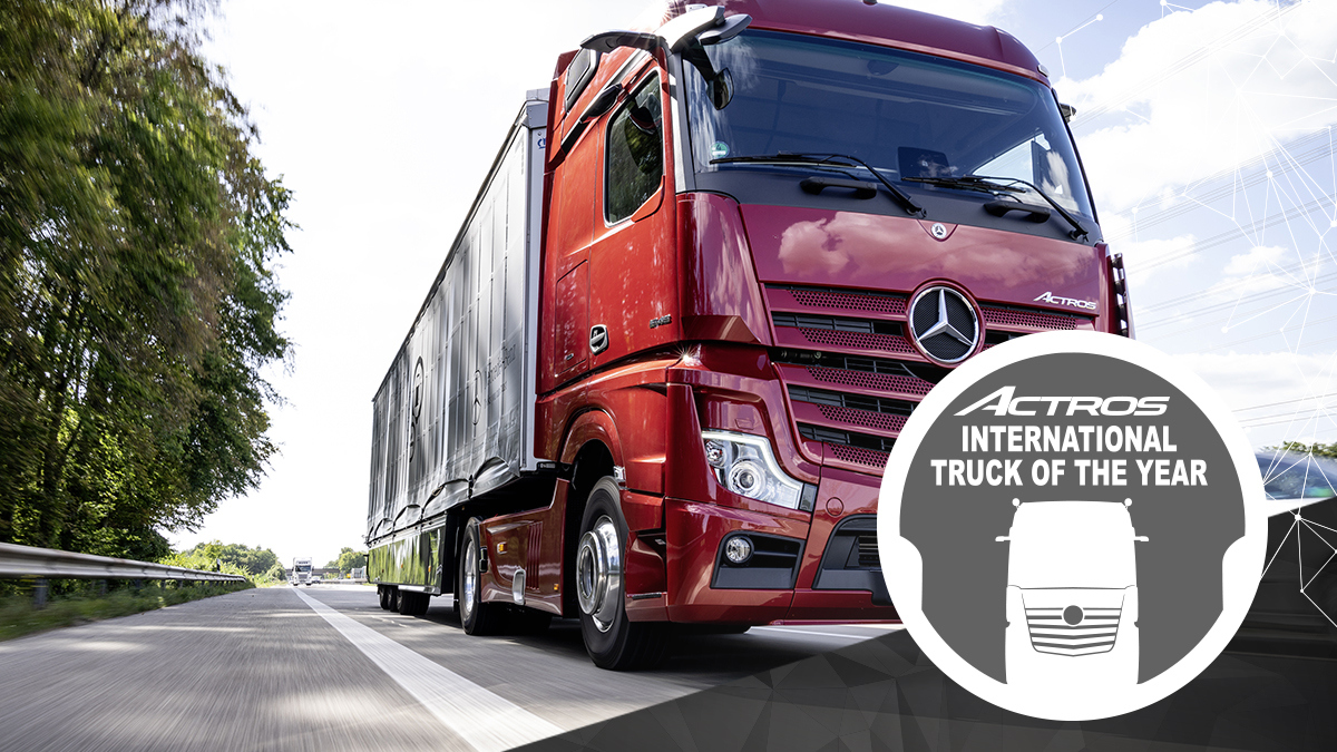 Nuovo Mercedes Actros conquista il premio Truck of the Year 2020