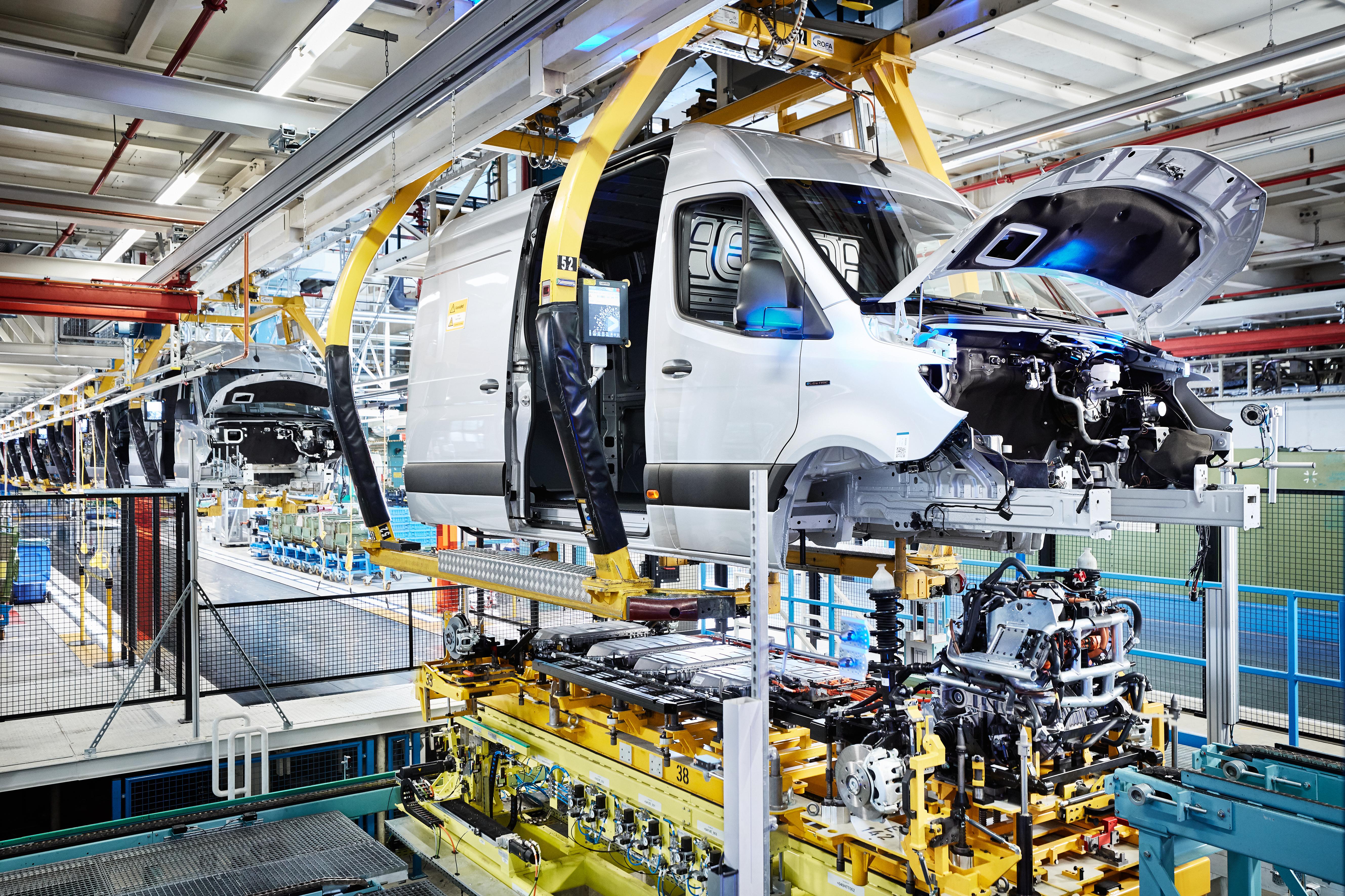 Mercedes eSprinter stabilimento Düsseldorf