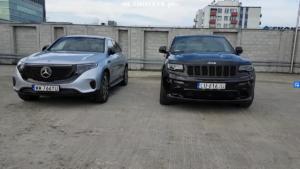 Mercedes EQC vs Jeep Grand Cherokee SRT