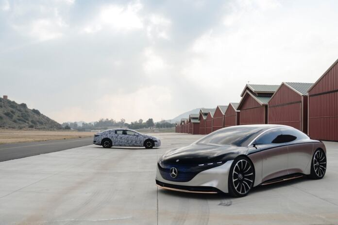 Mercedes EQS Vision prototipo foto