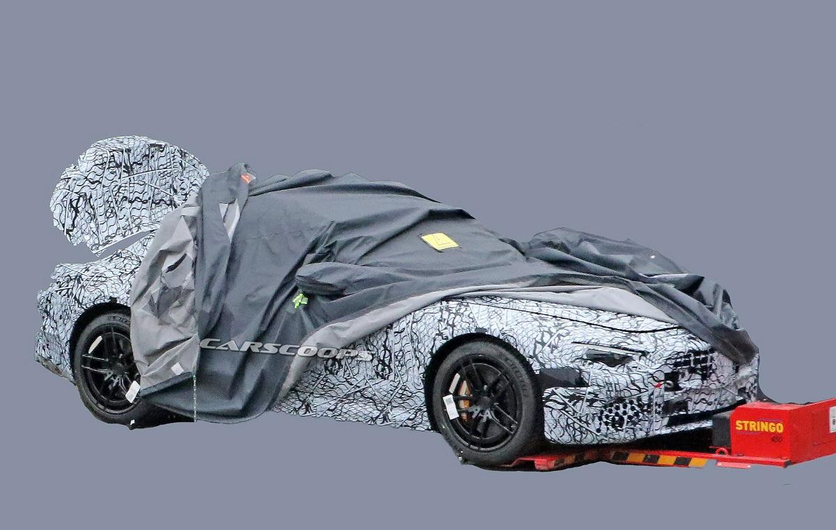 Mercedes SL 2021 foto spia