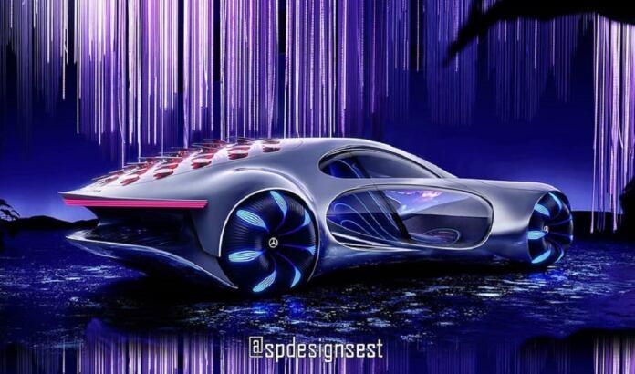 Mercedes Vision AVTR coupé render