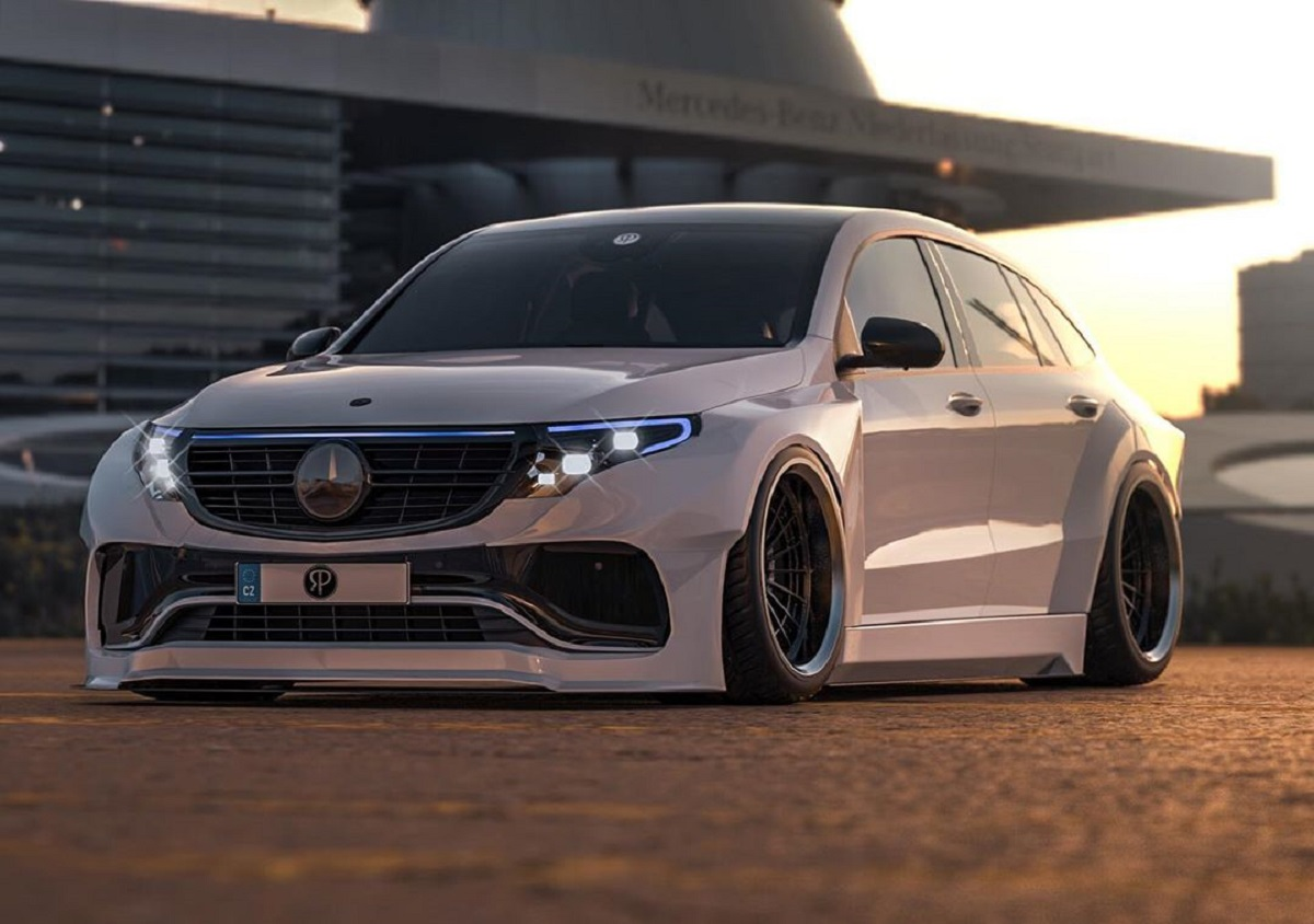 Mercedes EQC widebody render