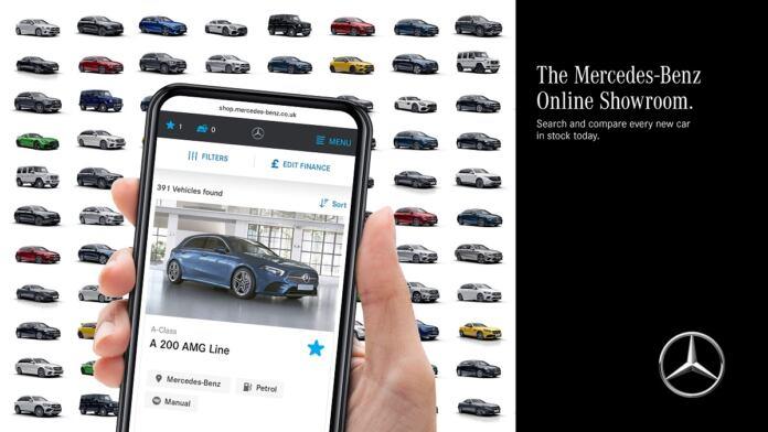Mercedes nuovo showroom online UK