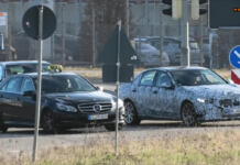 Mercedes Classe C 2021 foto spia Germania
