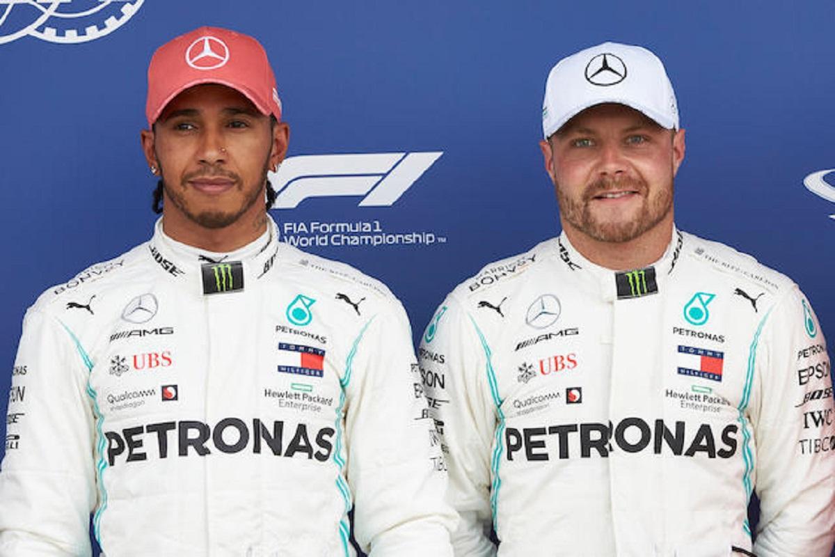 Mercedes-AMG Petronas tute Hamilton Bottas asta