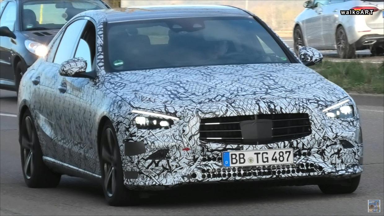 Mercedes Classe C 2022 prototipi foto spia