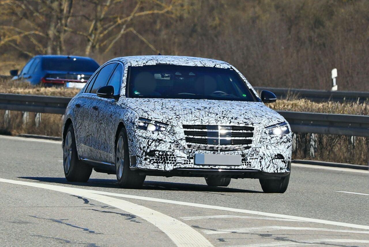 Mercedes Classe S Guard 2021 foto spia