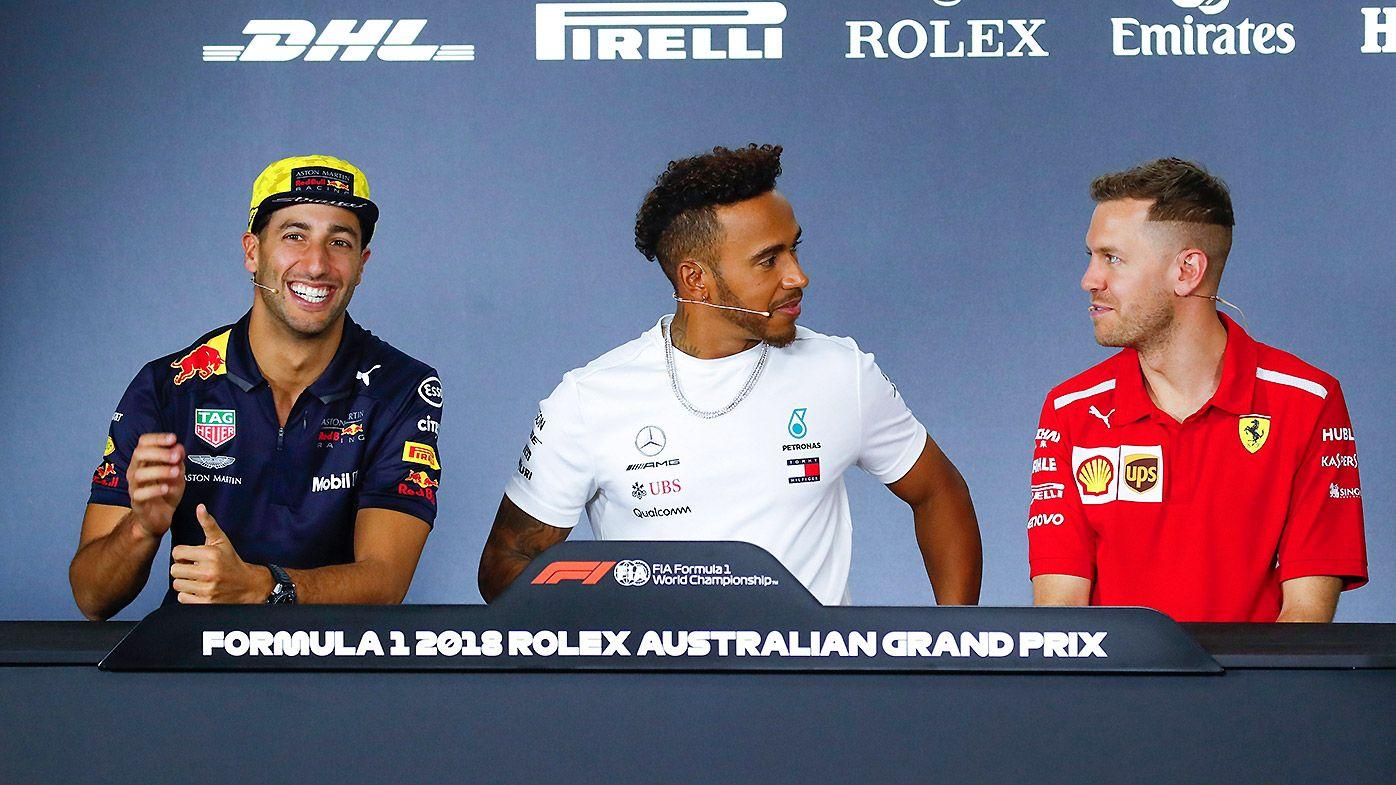Hamilton Vettel Ricciardo